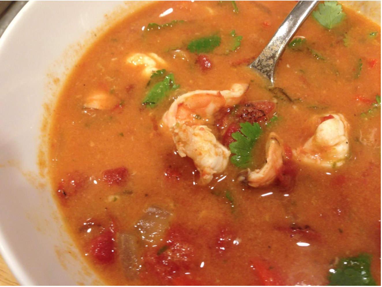 Thai Coconut Shrimp Soup - Living Fit Lifestyle