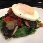 Portabello Poached Egg Stack