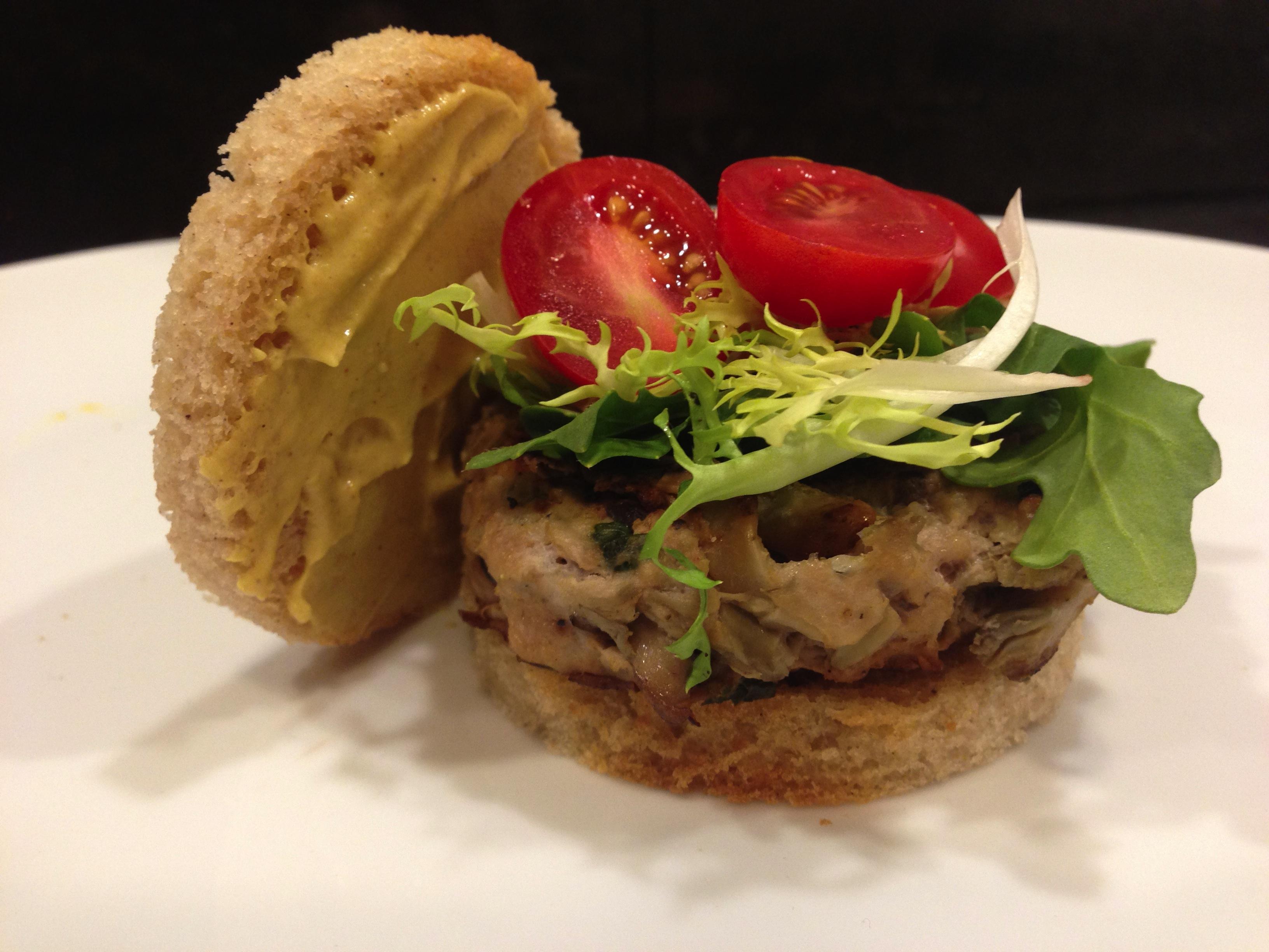 Mediterranean Chicken Burger - Living Fit Lifestyle