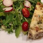 Asparagus & Artichoke Quiche